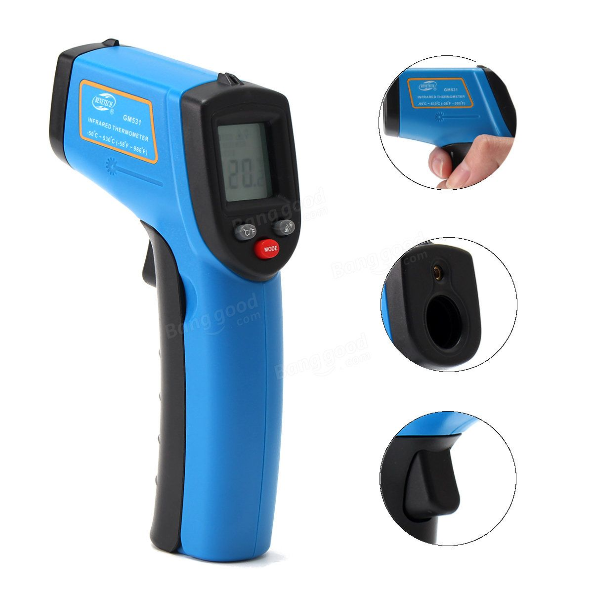 Us 15 00 Portable Digital Laser Ir Infrared Thermometer