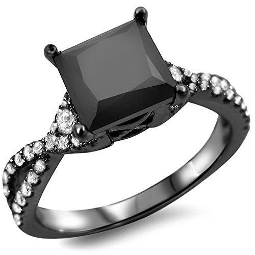 1.70ct Princess Cut Black Diamond Engagement Ring 18k White Gold by Front Jewelers - See more at: http://blackdiamondgemstone.com/jewelry/wedding-anniversary/engagement-rings/170ct-princess-cut-black-diamond-engagement-ring-18k-white-gold-com/#sthash.lmK6S7hz.dpuf