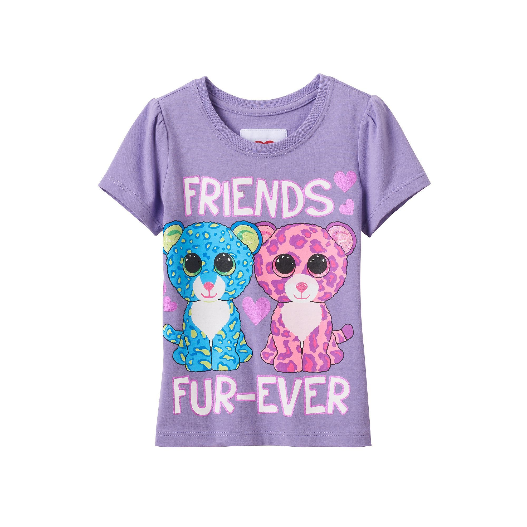 b114051a677 Toddler Girl Beanie Boos Leona   Glamour Leopard Graphic Tee ...