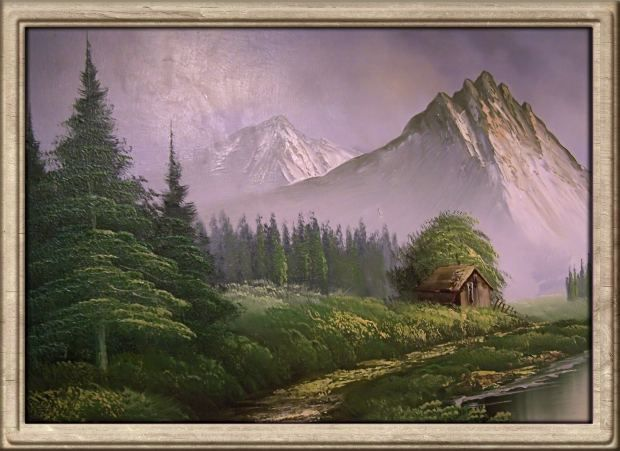 How To Paint Mountains With Acrylic Paints Mountain Paintings Acrylic Painting Painting