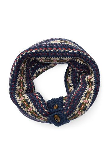 Fair Isle Wool-Blend Snood | Fair isles, Snood and Wool blend