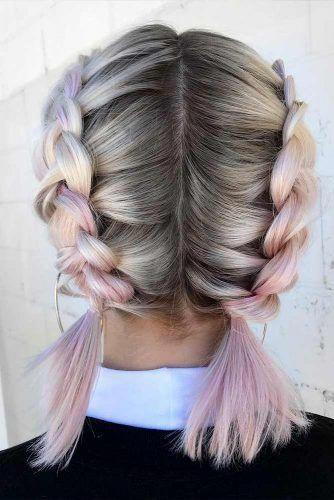 Long Hair Thin Hairstyles Thin Hairstyles 2017 Layered Thin Hairstyles Mediu In 2020 French Braid Short Hair Summer Hairstyles For Medium Hair Braids For Short Hair