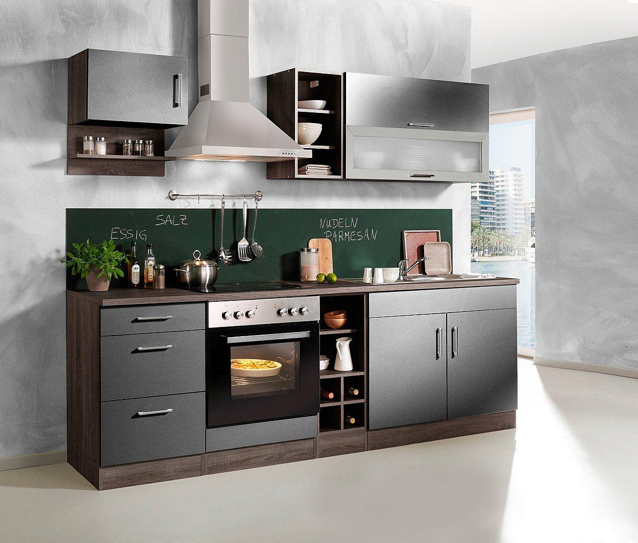 Held Möbel Küchenzeile »Sevilla«, mit Elektrogeräten, Breite 240 cm ...