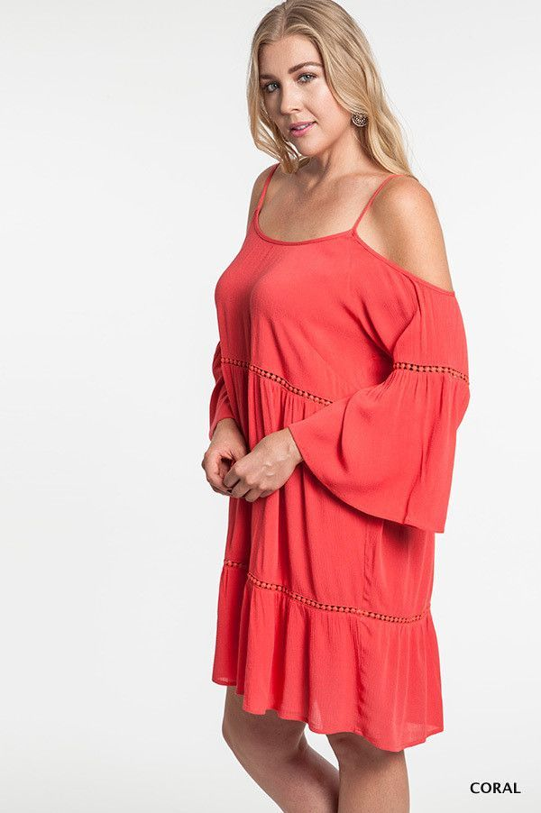 Boho Babe Off-the-Shoulder Peasant Dress - Curvy - Three Colors Available