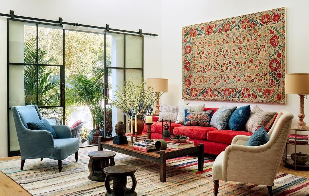 Cote De Texas Before After Kathryn Ireland S Renovated Art Compound Bohemian Living Rooms