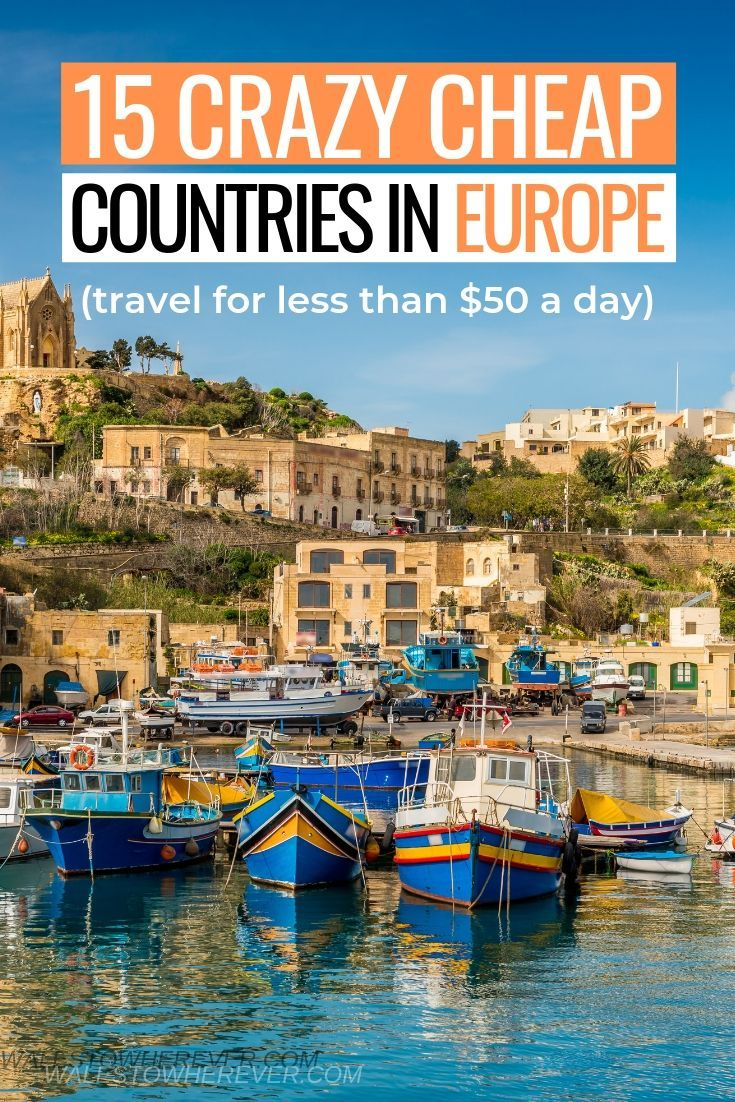 15 European Countries You Can Visit for LESS Than $50 a Day! -  Who says visiting Europe has to be expensive? Travelling Europe on a budget is DEFINITELY possible, - #BackpackingEurope #Countries #CruiseTips #Day #european #TravelDeals #TravelHacks #TravelItineraryTemplate #TravelTips #visit