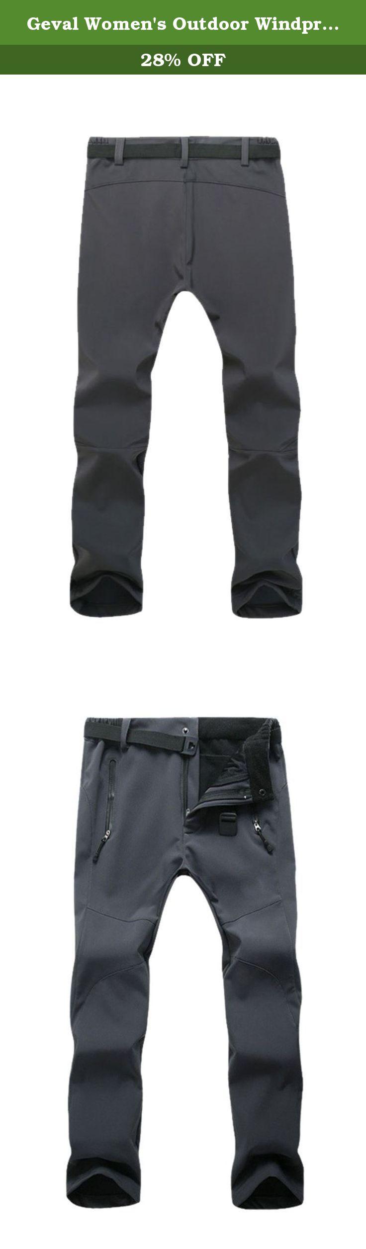 5b4bbf270d8 Geval Women s Outdoor Windproof Waterproof Softshell Fleece Snow pants (XS