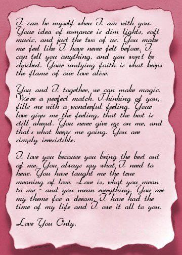 40 Romantic Letters for Her   Romantic love letters