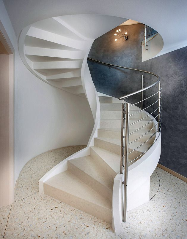 Spiral Staircase In Lightweight Concrete By Rizzi Staircase Design Home Stairs Design Stairs Design