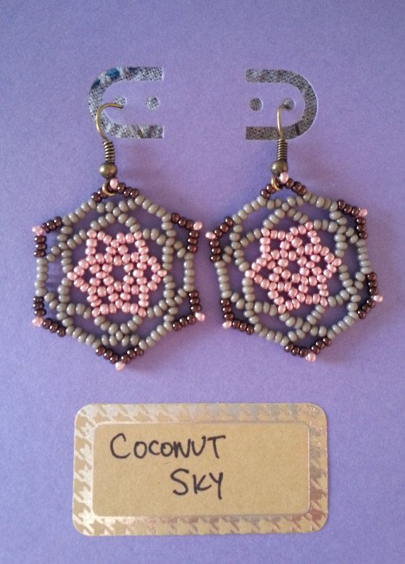Gaudi inspired earrings Metallic Rose by CoconutSky on Etsy, $27.50 made in the Mitten State