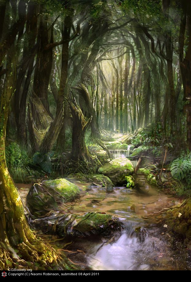 Jungle Tanquility By Naomi Robinson 2d Cgsociety In