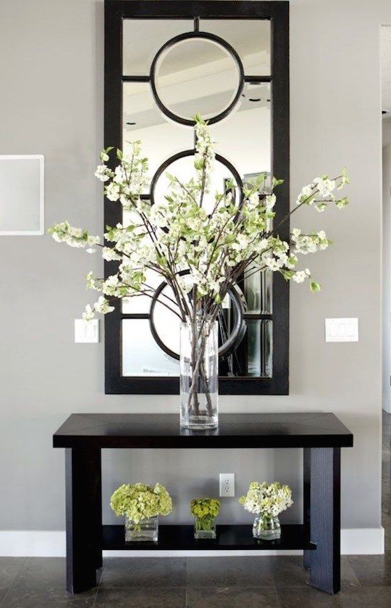 Nice Recreate With Cheap Floor Length Mirror, The Inner Part Of Embroidery  Hoops, And Thin. Console Table ...