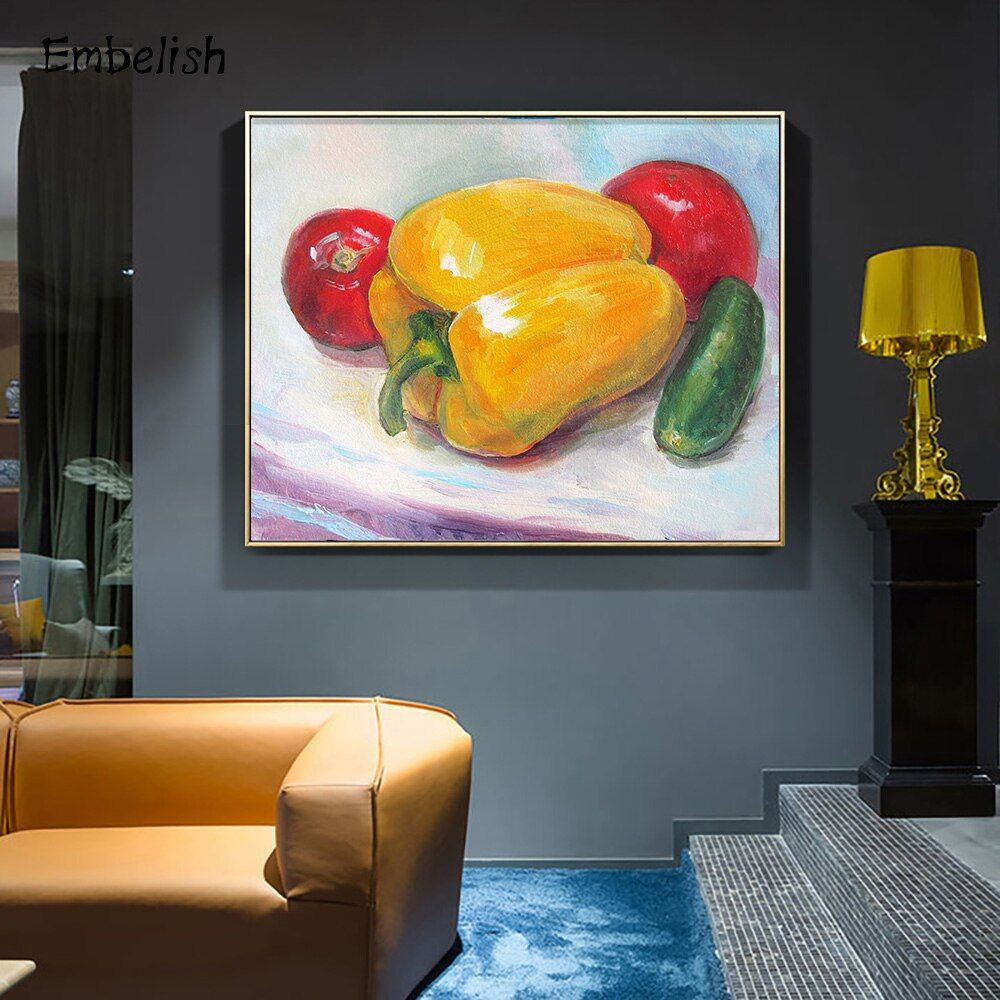 1 Pieces Kinds Of Vegetables Wall Large Posters For Kitchen Home Decor Modern Hd Print On Canvas Oil Paintings Bedroom Artworks Bedroom Artwork Painting Oil Painting On Canvas