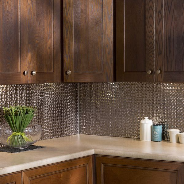 Fasade Terrain In Brushed Nickel Backsplash 18 Square Feet Kit   17600828    Overstock   Big Discounts On Fasade Backsplash Tiles   Mobile Amazing Design