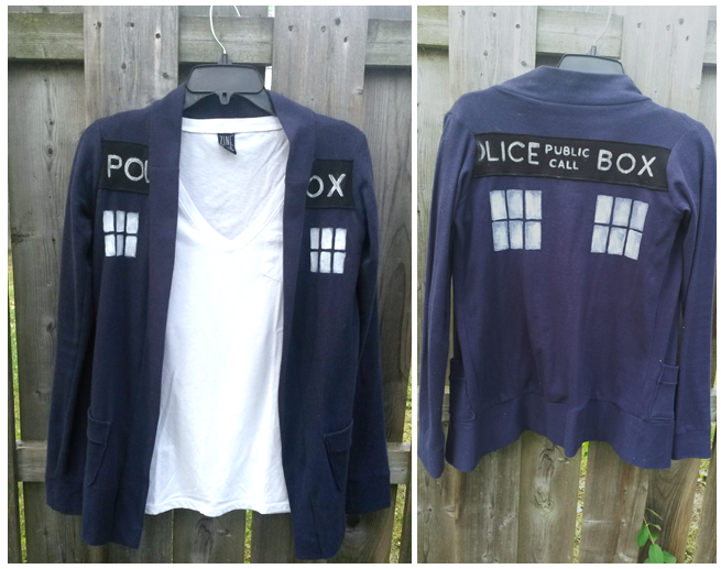 Doctor Who - Tardis Cardigan FOR SALE by AwesomeTikiWiki.deviantart.com on @deviantART