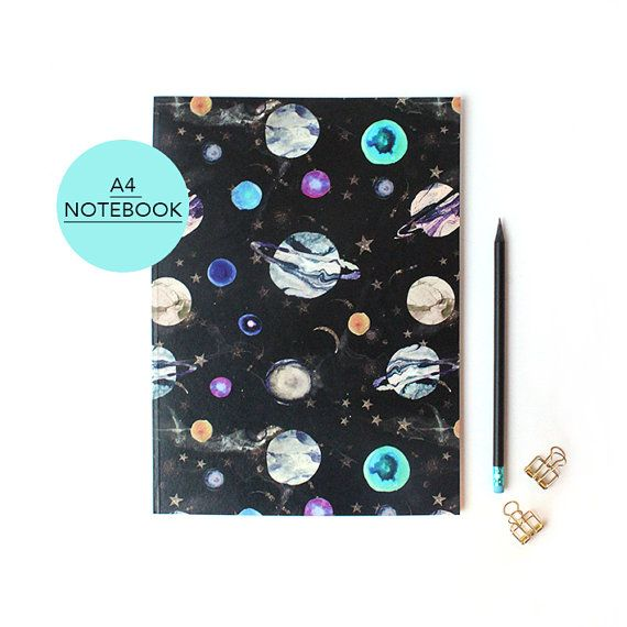 A4 Marble Galaxy  Notebook with lined pages
