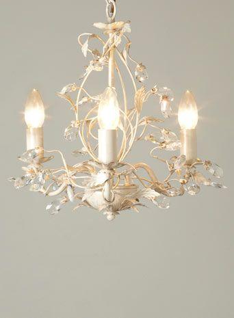 Tahlia 3 light chandelier cream gold ceiling lights lighting bhs