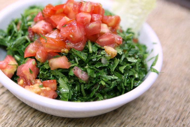 Barbara's Lebanese Mezze: Lebanese Parsley Salad - Tabbouleh