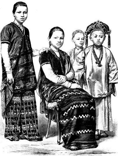 Женщины из народа каренов (Бирма)
