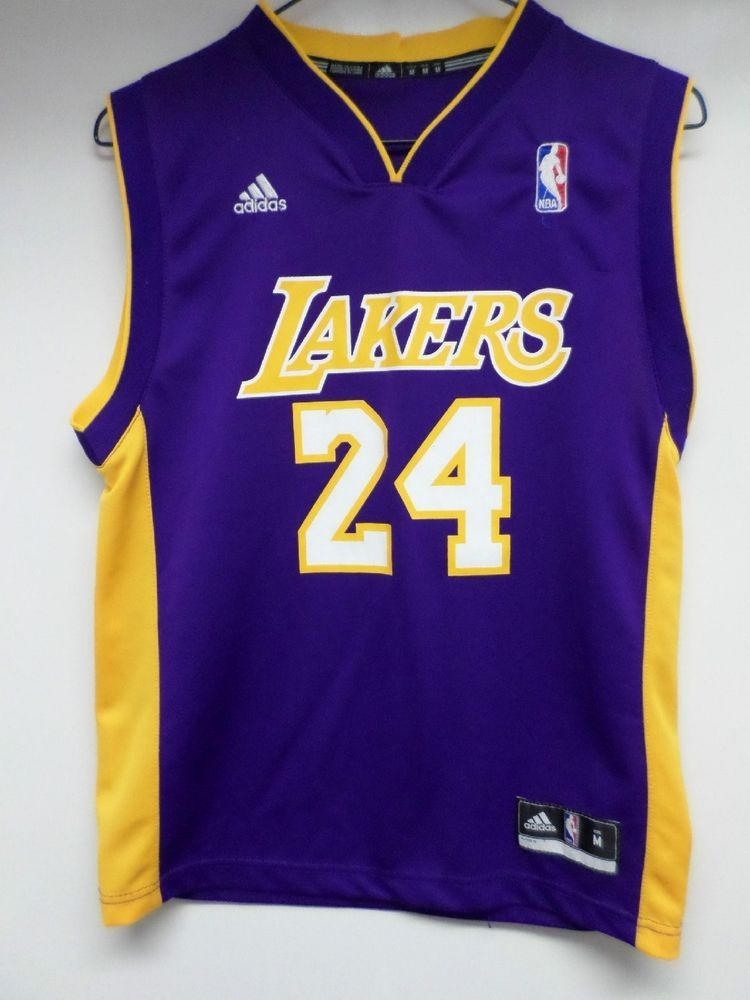 free shipping 4fb56 95a4a 24 KOBE BRYANT LOS ANGELES LAKERS ADIDAS BRAND JERSEY YOUTH ...