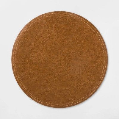 Faux Leather Charger Brown Threshold Target Woven Charger Leather Decorative Charger