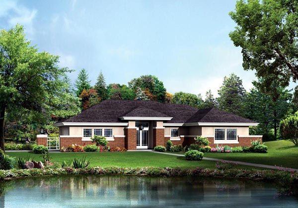 Contemporary Prairie Style House Plan 95886