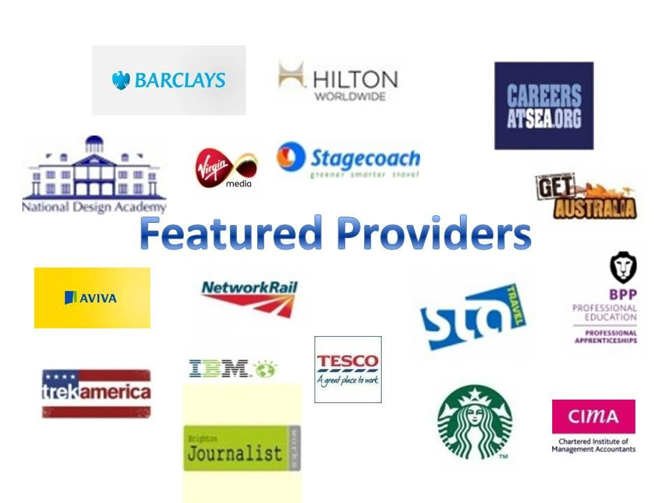 Just some of the providers that offer fantastic training programmes. See website for full list and further details: http://www.notgoingtouni.co.uk/providers/index/page:1?