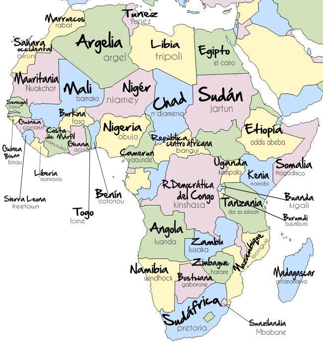 Paises De Africa Mapa Interactivo.Pin De Aurelio Oramas Tejera En Mapas Y Planos Mapa