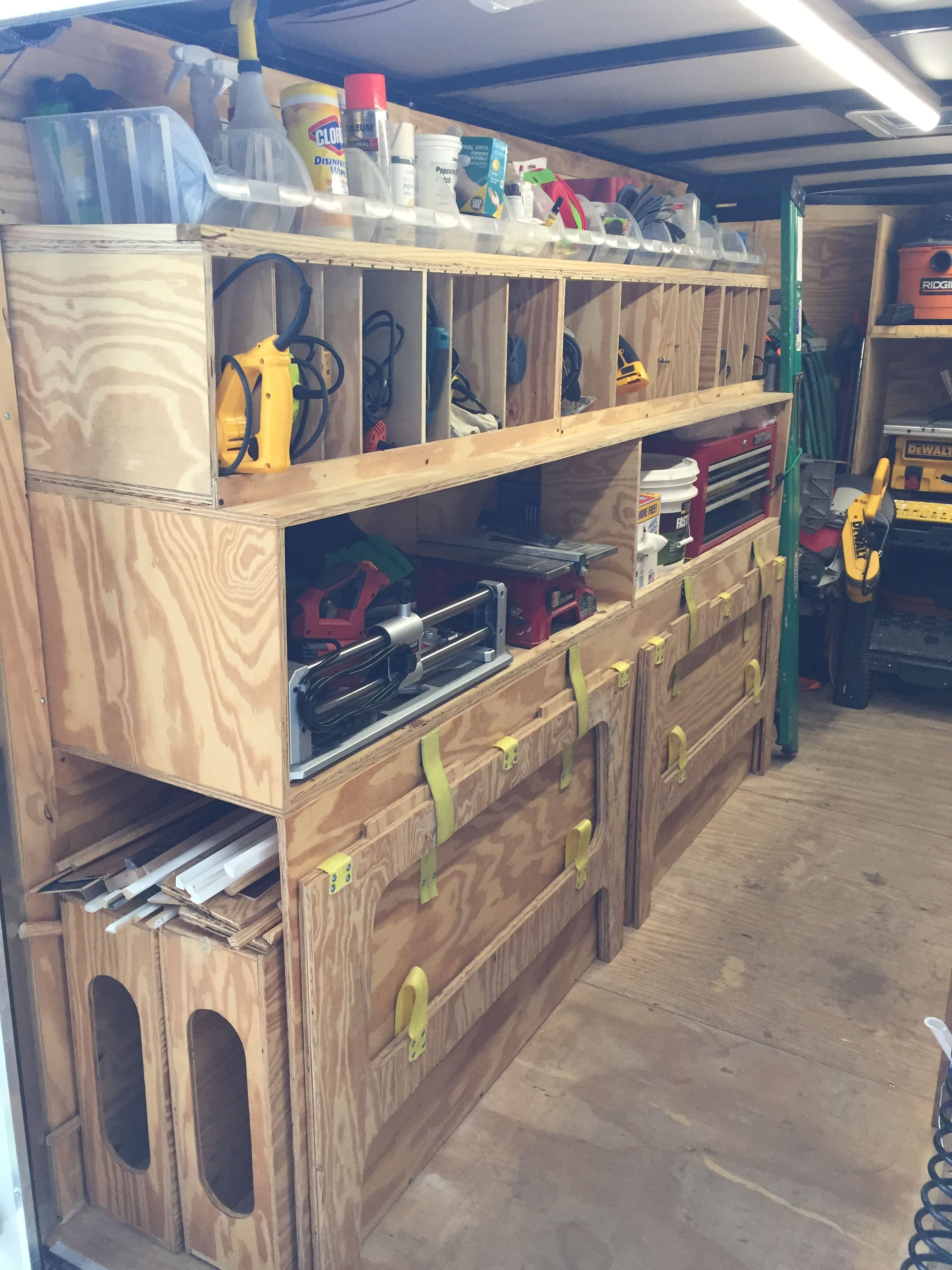 Enclosed Trailer Shelving >> Shelf dividers for hand power tools | Woodworking in 2019 ...