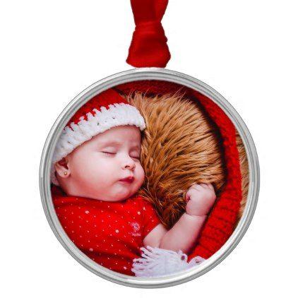 Personalized baby photo christmas ornament keepsak photo personalized baby photo christmas ornament keepsak negle Image collections