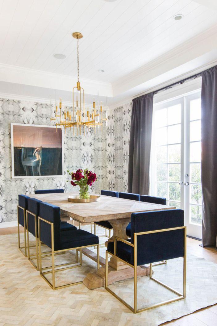 awesome Salle à manger - Gold accent chairs are the perfect addition - decoration de salle de sejour