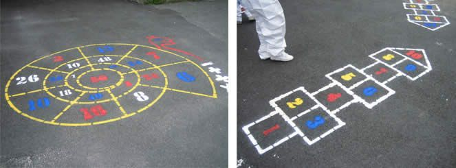 Galway Healthy Cities Projects Playground Markings Playground - Playground stencils