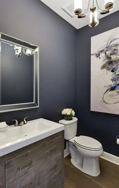Pin By Ingrid Stassi On Casita In 2020 Popular Bathroom Colors Bathroom Paint Colors Powder Room Paint Colors