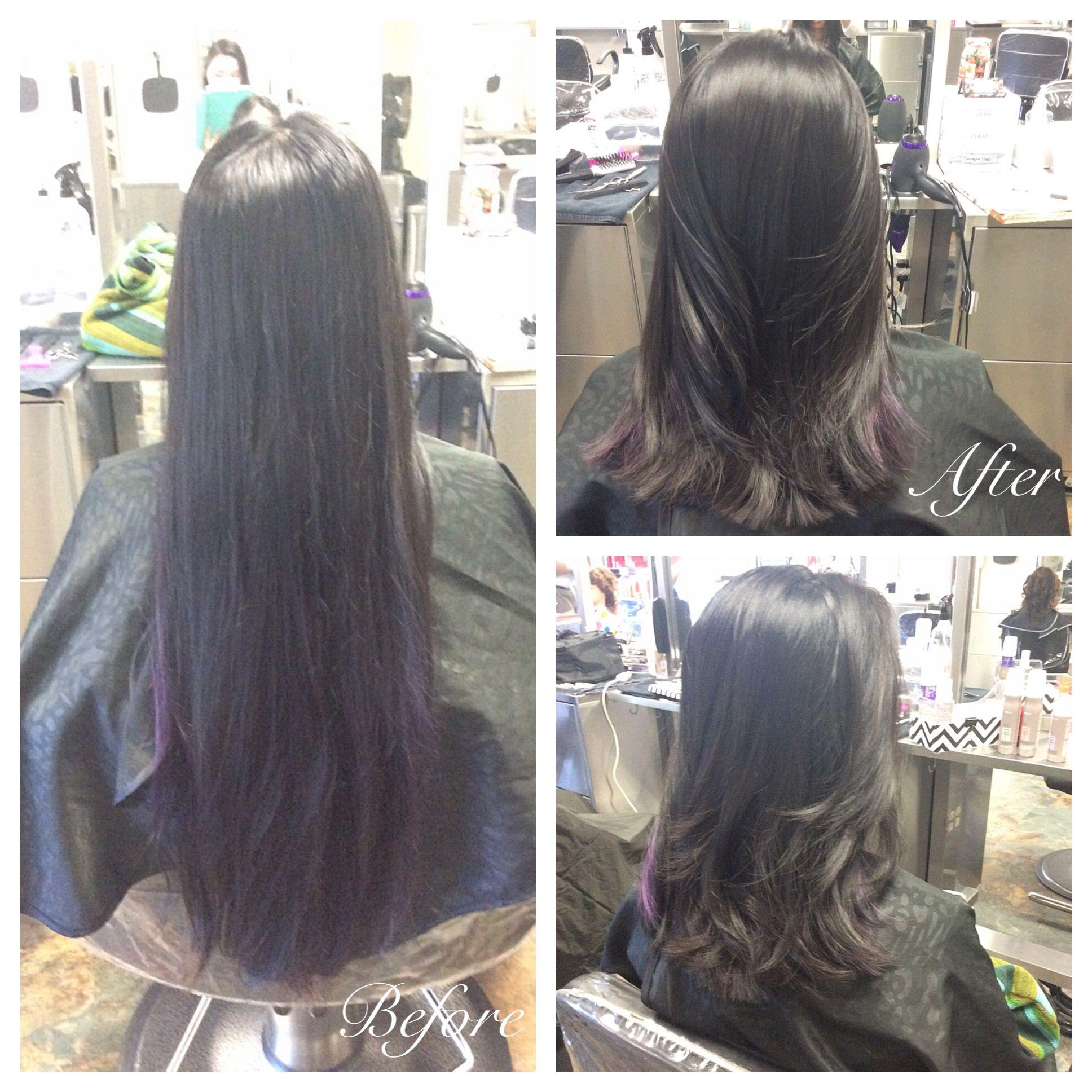 180 Degree Long Layered Haircut Using Shears May 2nd 2016