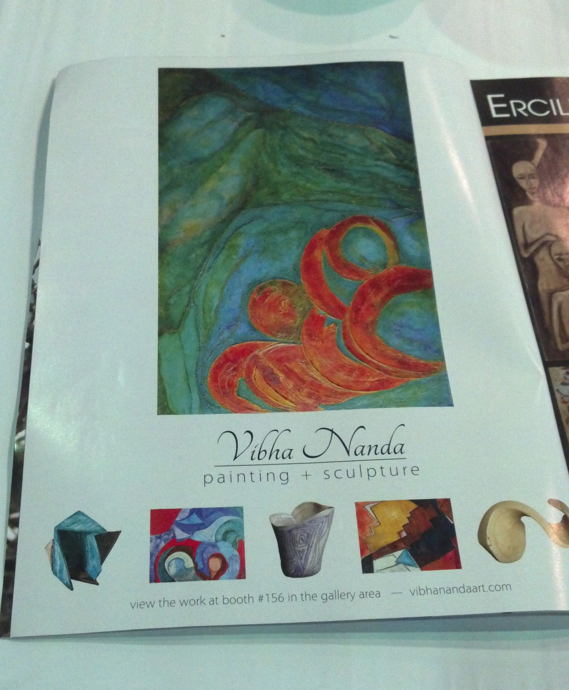 This is the ad Keith designed for Artexpo New York exhibitor artist Vibha Nanda of Doha, Qatar. We were placed on page 2 of 80. Nice!