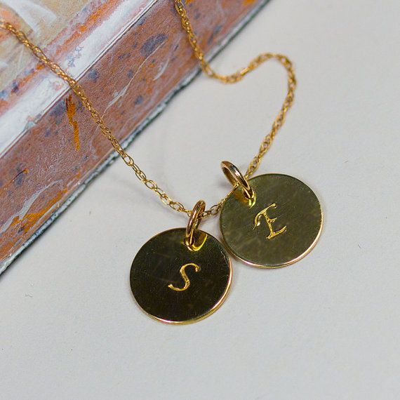 Solid Gold Initial Pendant Handmade by marcieadary on Etsy, $110.00