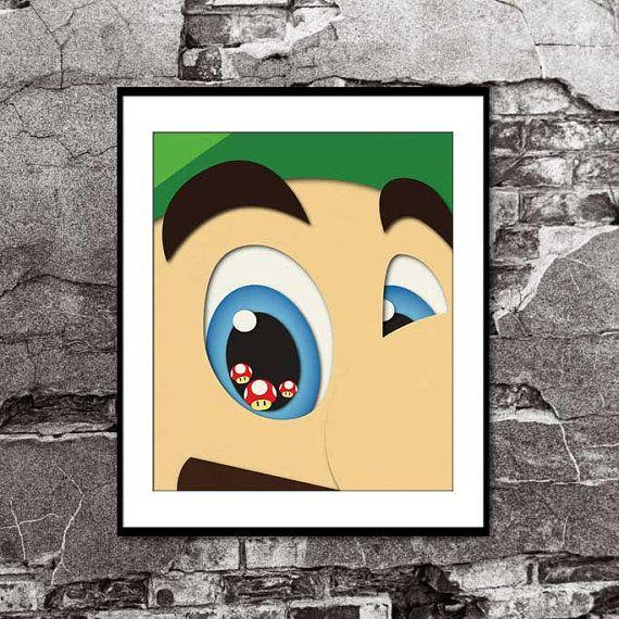 Super Mario Bros - Luigi Mushrooms - Layered paper Illustration ...