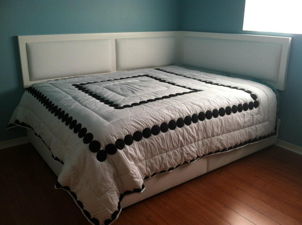 Corner Bed Headboard corner headboard? | home improvement | pinterest | bedrooms