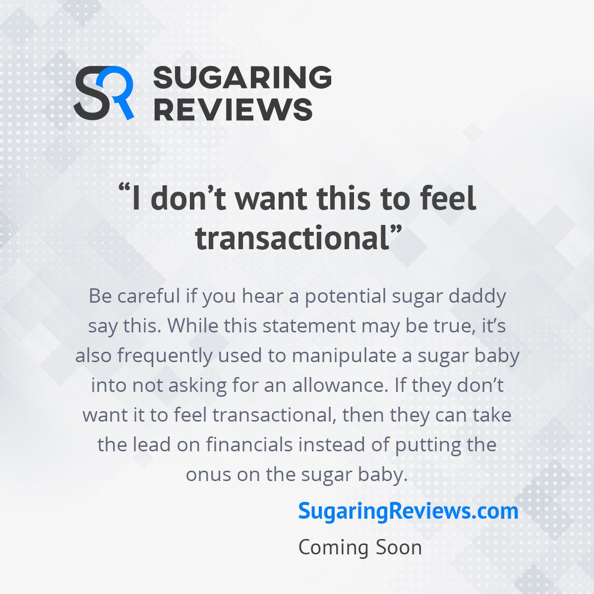 how do you know if a sugar daddy is scamming you