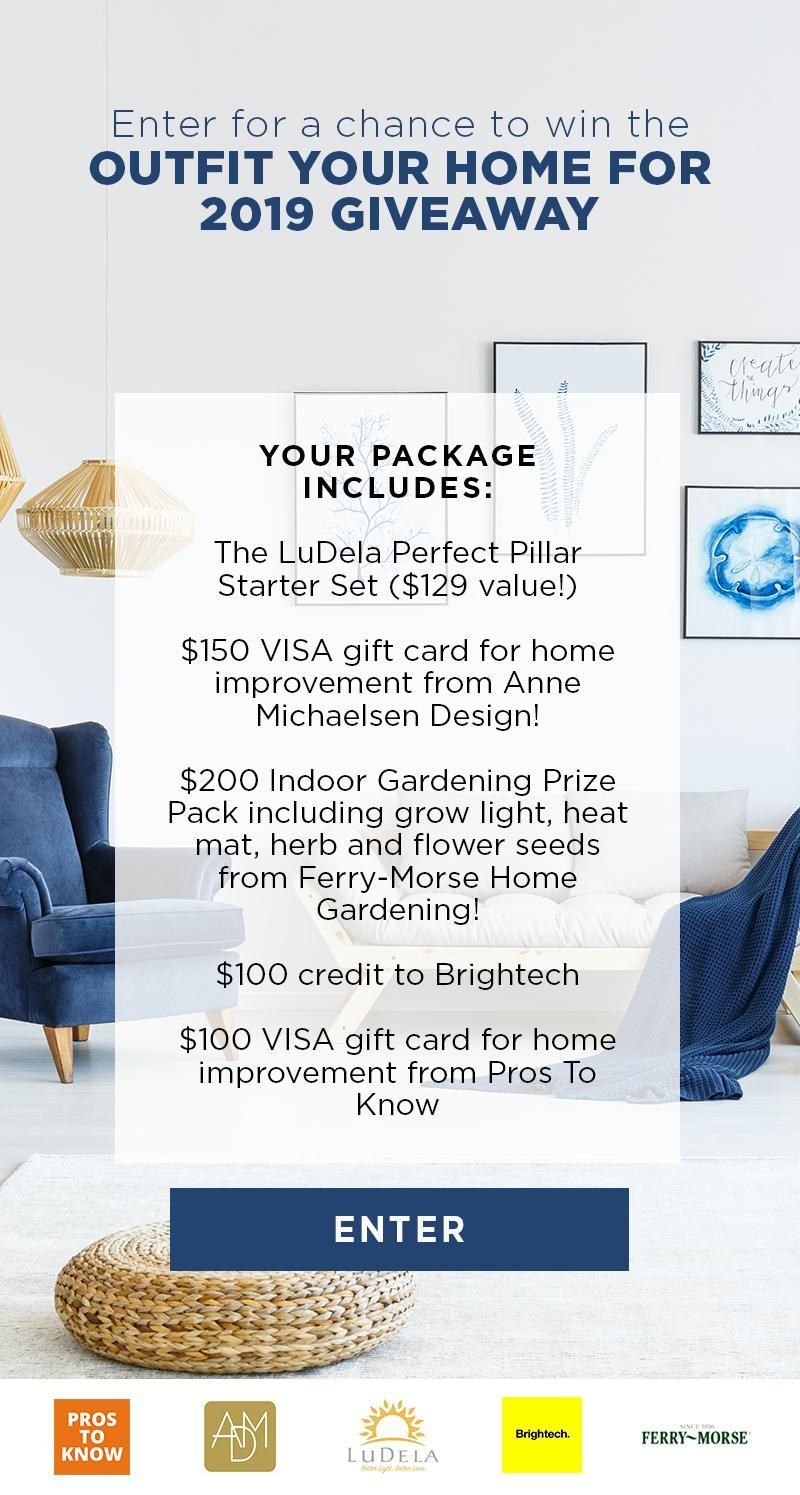 Enter for a chance to win a $679 prize package of home decor