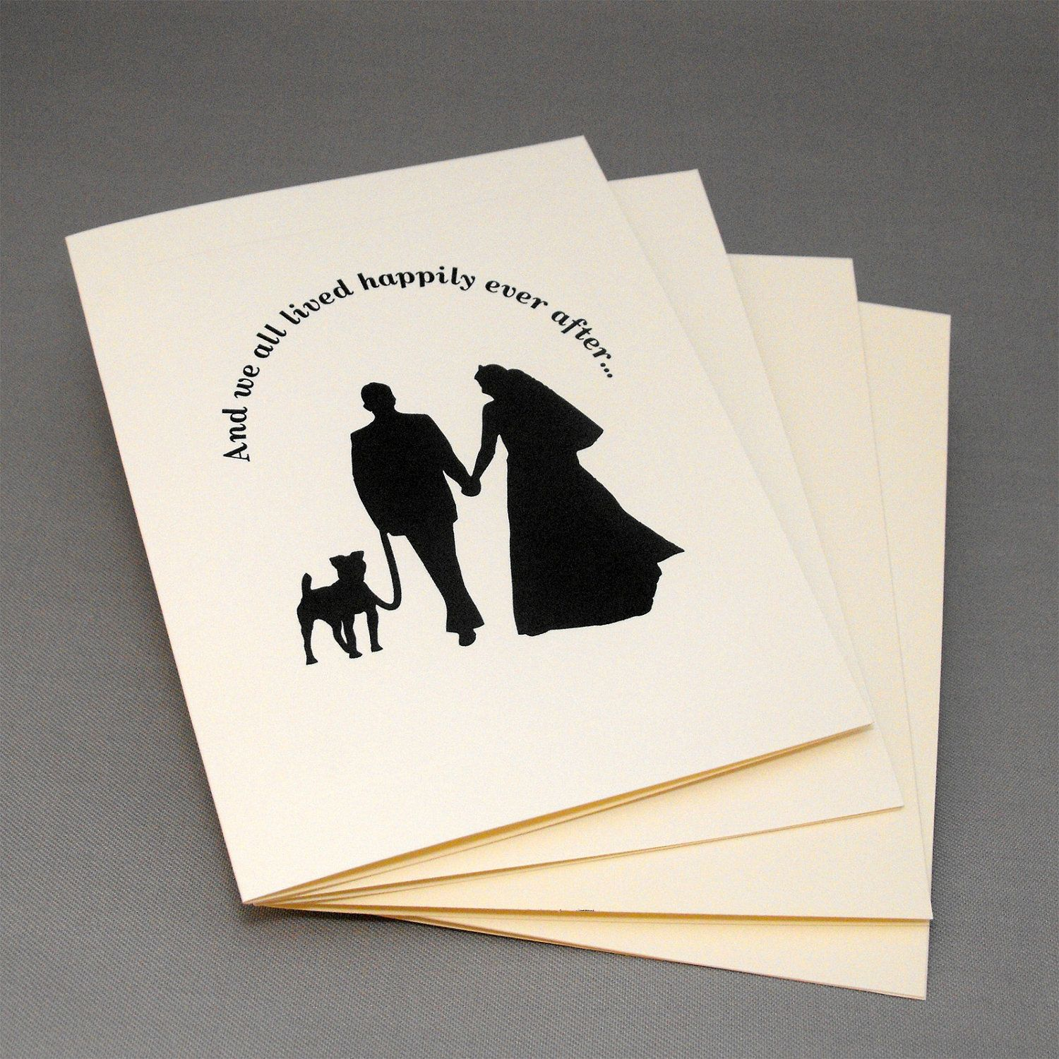 Dog Wedding Cards, Engagement or Wedding Thank You Cards Pack of 12 ...