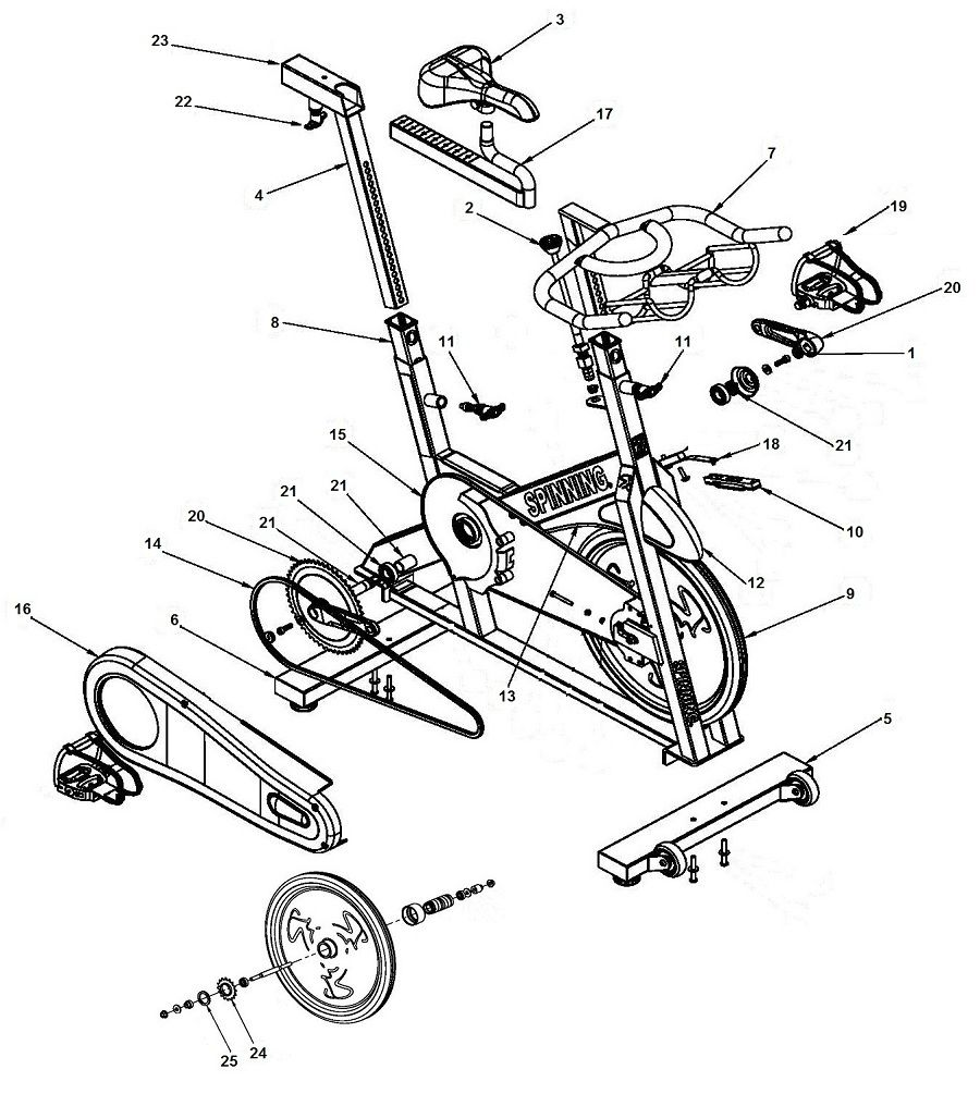 Exercise Bike Repair Indoor Cycle Parts Star Trac
