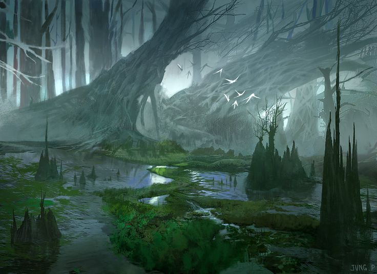 54. They lost in a marsh. The ranger hunts in the area helped them to find the nearby village Hylock.