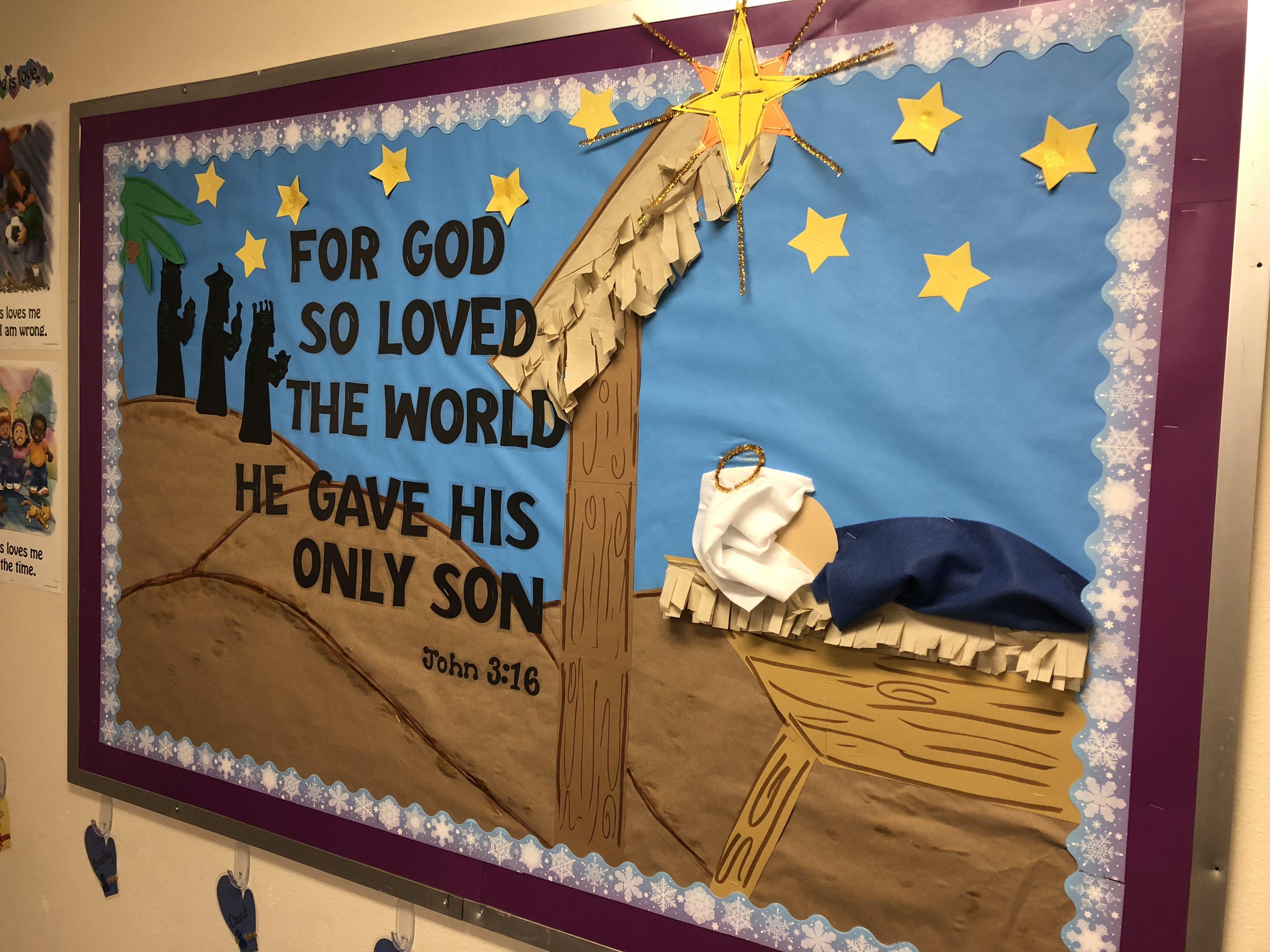 Bulletin Board Idea For Preschool Room Or Sunday School