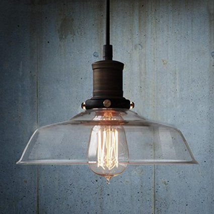 ceiling lighting kitchen contemporary pinterest lamps transparent. Nostralux® Modern Industrial Retro Style Glass Pendant Lamp Ceiling Lights E27 - Transparent Lighting Kitchen Contemporary Pinterest Lamps