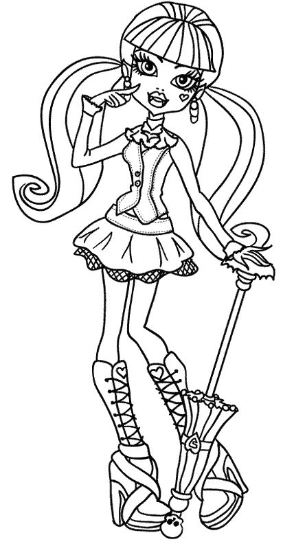 Draculaura Cute Monster High Coloring Pages | imprimibles ...