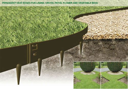 Ever Edge® is the permanent solution to the age-old problem of maintaining neat edges for lawns, drives, path edging and flower and vegetable beds. Ever Edge is very simple to install, it is weather-resistant and maintenance-free. Most importantly, it can be mown over, eliminating the usual time-consuming and back-breaking effort of achieving neat edging manually.