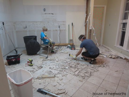The Best Way To Remove Thinset From A Cement Foundation House Of Hepworths Tile Removal How To Lay Tile Home Improvement Projects