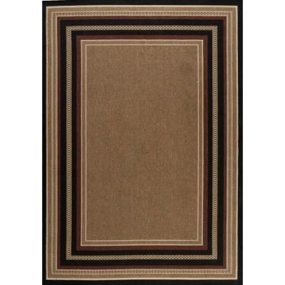Bon Hampton Bay, Chili And Black Border 7 Ft. X 10 Ft. Indoor And Outdoor Area  Rug, At The Home Depot   Mobile