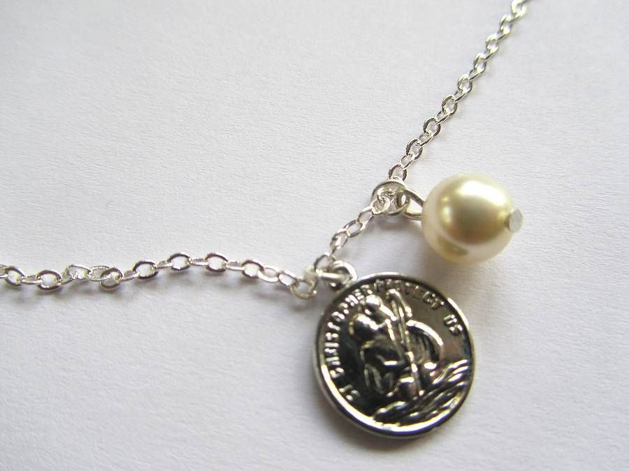 St christophers charm necklace from notonthehighstreet not on st christophers charm necklace aloadofball Images